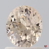 1.16cts Oval Peachy Pink Champagne Sapphire