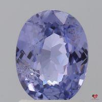 1.66cts Oval Medium Lavender Purple Sapphire