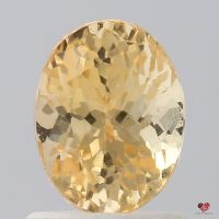 1.49cts Oval Tangerine Honey Champagne Sapphire
