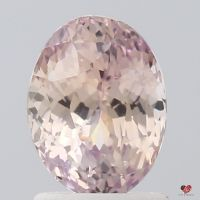 2.05cts Oval Peachy Blush Champagne Sapphire