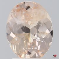 2.42cts Oval Peachy Blush Champagne Sapphire