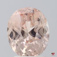 2.93cts Oval Peach Blush Champagne Sapphire