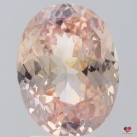 4.01cts Oval Peach Pink Champagne Sapphire