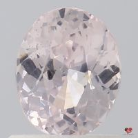 1.02cts Oval Icy Peach Champagne Sapphire