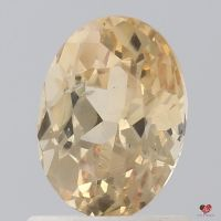 1.30cts Oval Peach Champagne Sapphire