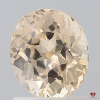 1.32cts Oval Peach Champagne Sapphire