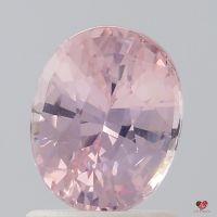 1.39cts Oval Peachy Blush Sapphire