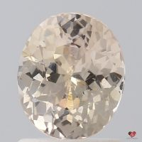 1.47cts Oval Peachy Pink Champagne Sapphire