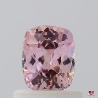 0.70cts Rectangle Cushion Rich Rose Blush Champagne Sapphire