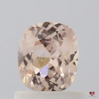 0.76cts Rectangle Cushion Medium Peachy Pink Champagne Sapphire