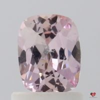 0.87cts Rectangle Cushion Medium Rose Blush Champagne Sapphire