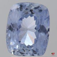2.64cts Rectangle Cushion Medium Icy Denim Cornflower Blue Sapphire