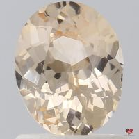 1.10cts Oval Icy Peach Champagne Sapphire