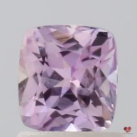 1.16cts Rectangle Cushion Medium Rose Lavender Champagne Sapphire
