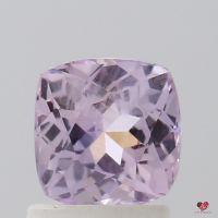 1.46cts Square Cushion Medium Lavender Blush Champagne Sapphire