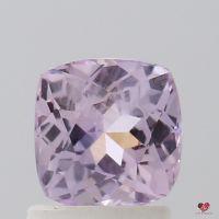 1.46cts Square Cushion Medium Lavender Blush Champagne Sapphire
