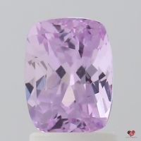2.01cts Rectangle Cushion Medium Lavender Rose Blush Sapphire