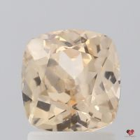2.12cts Rectangle Cushion Light Peachy Champagne Honey Sapphire