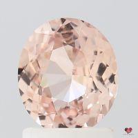 1.37cts Oval Medium Peach Blush Champagne Sapphire