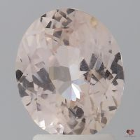 3.00cts Oval Light Peach Champagne Sapphire