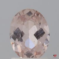 1.33cts Oval Light Peachy Blush Champagne Sapphire