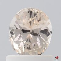 1.08cts Oval Light Peach Champagne Blush Sapphire