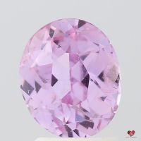 2.49cts Oval Medium Lavender Blush Rose Champagne Sapphire