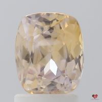 2.44cts Rectangle Cushion Light Peach Blush Champagne Sapphire