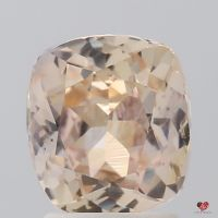 2.86cts Rectangle Cushion Light Peachy Champagne Blush Sapphire