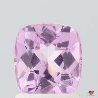 1.54cts Rectangle Cushion Medium Rustic Rose Blush Sapphire