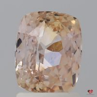 2.30cts Rectangle Cushion Light Peachy Blush Champagne Sapphire