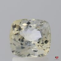 1.81cts Square Cushion Faint Butter Champagne Sapphire