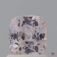 1.11cts Square Cushion Faint Icy Blush Champagne Peach Sapphire