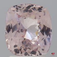 2.89cts Rectangle Cushion Medium Blush Champagne Peach Sapphire
