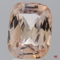 4.07cts Rectangle Cushion Medium Peach Blush Champagne Sapphire