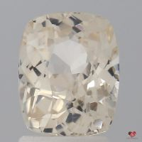 2.43cts Rectangle Cushion Faint White Champagne Sapphire