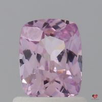 0.98cts Rectangle Cushion Medium Rustic Rose Blush Sapphire