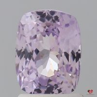 2.06cts Rectangle Cushion Medium Lavender Blush Champagne Sapphire