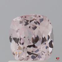 1.58cts Rectangle Cushion Light Blush Champagne Sapphire