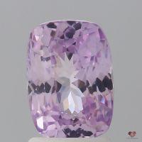 2.41cts Rectangle Cushion Medium Blush Champagne Lavender Sapphire