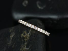 Rosados Box 14kt Rose Gold Tiffani Skinny Shared Prong Half Way Eternity Diamond Band