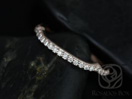 Rosados Box 14kt Rose Gold Matching to Cassidy Halfway Eternity Diamond Band