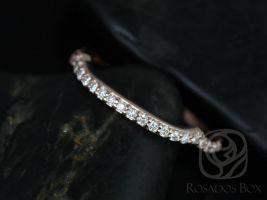 Rosados Box 14kt Rose Gold Matching Band to Cassidy/Mara/Orla Diamond HALFWAY Eternity Band
