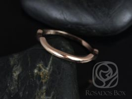 Rosados Box 14kt Rose Gold Matching Band to Cassidy/Mara/Orla PLAIN Band