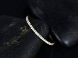 Rosados Box Priscilla 14kt Yellow Gold Ultra Thin Diamonds ALMOST Eternity Band