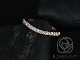 Rosados Box 14kt Matching Band to Avery 10x8mm Diamonds HALFWAY Eternity Band