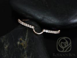 Rosados Box 14kt Matching Band to 6x4mm Bridgette, Britney Diamonds HALFWAY Eternity Band