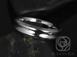 Rosados Box Miles 6mm Tungsten Concave Beveled Edge High Finish Band