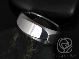 Rosados Box Brutus 8mm Tungsten European/Square Shaped Beveled Edge High Finish Band