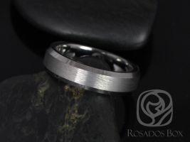 Rosados Box Drew 6mm Tungsten Beveled Edge Duo Finish Band